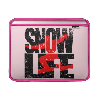 SNOW LIFE red boarder (blk) Sleeve For MacBook Air