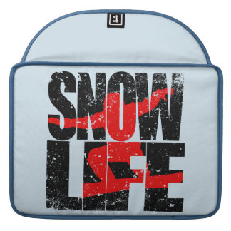 SNOW LIFE red boarder (blk) Sleeve For MacBook Pro