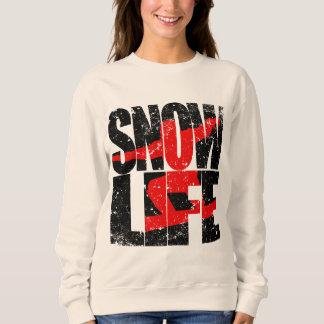 SNOW LIFE red boarder (blk) Sweatshirt