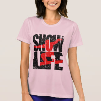 SNOW LIFE red boarder (blk) T-Shirt