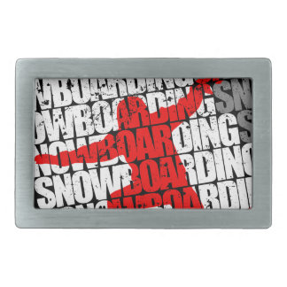 SNOW LIFE red boarder (wht) Belt Buckle