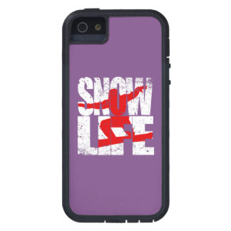 SNOW LIFE red boarder (wht) Case For iPhone 5