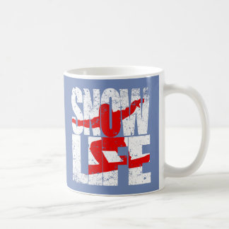 SNOW LIFE red boarder (wht) Coffee Mug