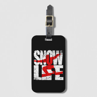 SNOW LIFE red boarder (wht) Luggage Tag