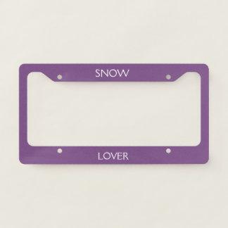 snow lover licence plate frame
