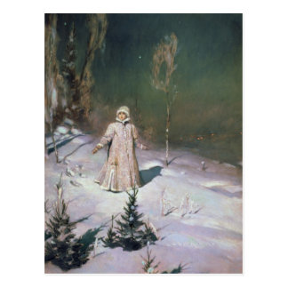 Snow Maiden, 1899 Postcard