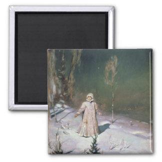 Snow Maiden, 1899 Square Magnet