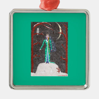 Snow Maiden Ornament - Premium Square