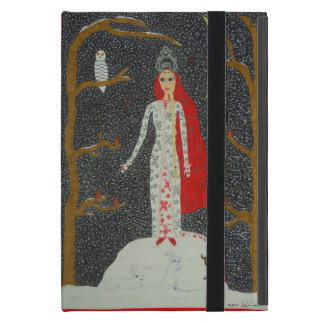 Snow Maiden (Red Version) Cases For iPad Mini