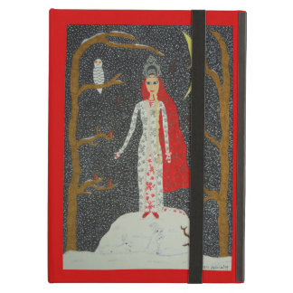 Snow Maiden (Red Version) iPad Air Cases