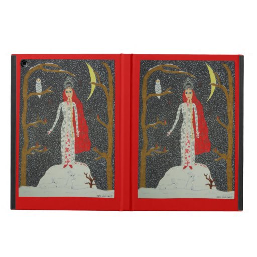Snow Maiden (Red Version) iPad Air Cases