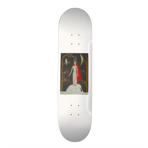 Snow Maiden (Red Version) Custom Skate Board