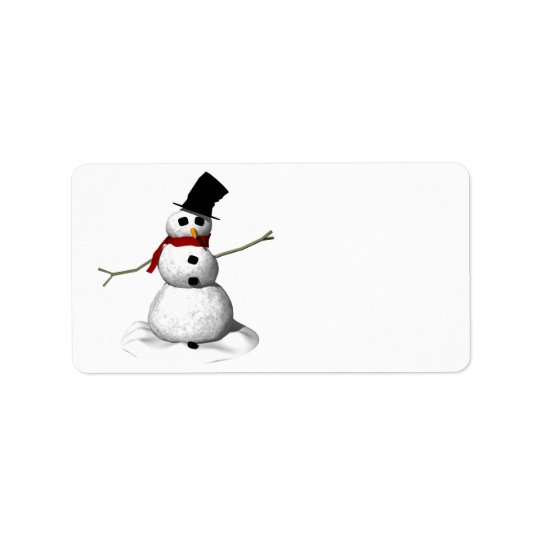 Snow Man Address Label