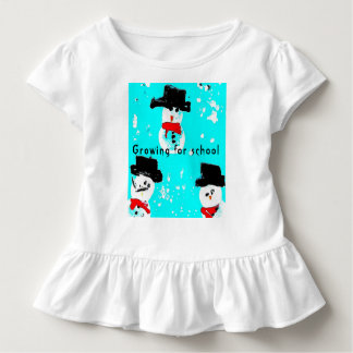 Snow man Baby Jersey Bodysuit, White Toddler T-Shirt