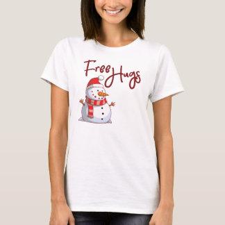 Snow Man Free Hugs T-Shirt