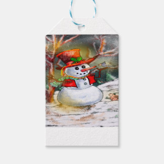 SNOW MAN GIFT TAGS