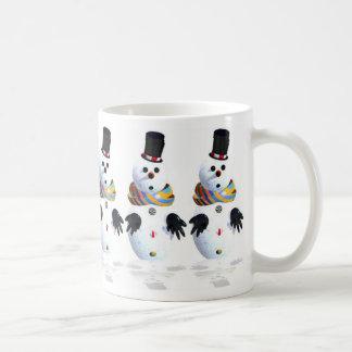 Snow man coffee mug