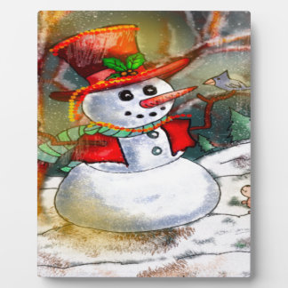 SNOW MAN PLAQUE