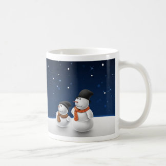 Snow Man Snow Child Basic White Mug