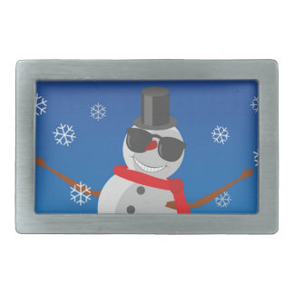Snow Man Snow Winter Christmas Belt Buckle
