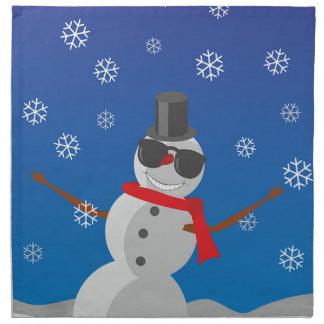 Snow Man Snow Winter Christmas Napkin