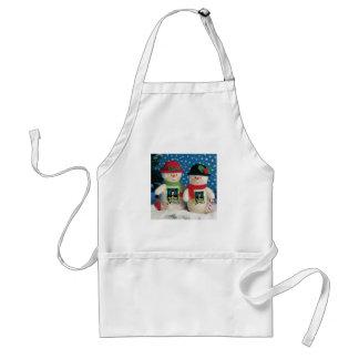 snow man standard apron