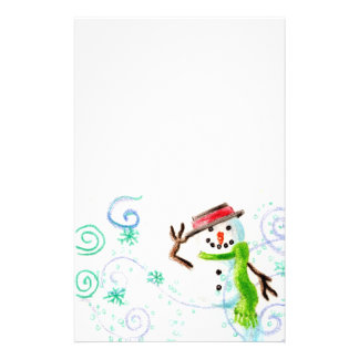 Snow Man Stationery