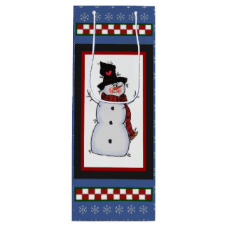 Snow Man Wine Bag