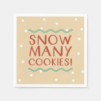 Snow Many Cookies Napkins Disposable Serviettes