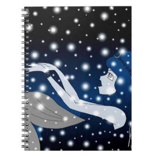 Snow Mermaid Notebook