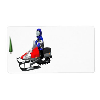 Snow Mobiling Shipping Label