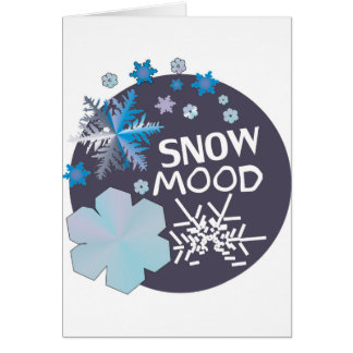 Snow Mood Greeting Card