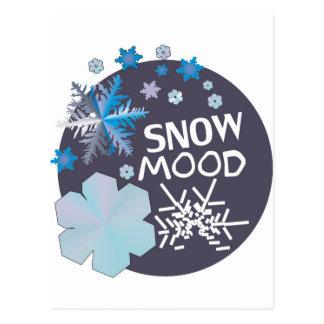 Snow Mood Postcard