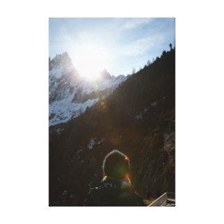"""Snow Mountain... 24"""" x 36"""" Wrapped Canvas"""