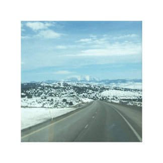 Snow mountain stretched canvas print