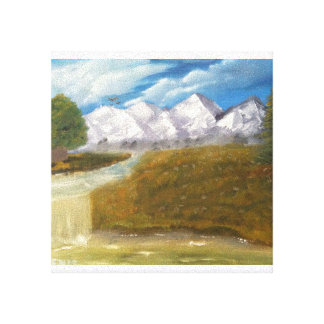 Snow Mountains Gallery Wrapped Canvas