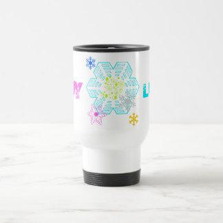 Snow Mug, LUSH BLUE, TIDY PINK Travel Mug