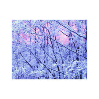 Snow on Branches Canvas Prints