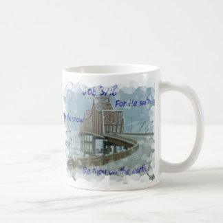 Snow on Bridge winter bible verse God creator Coffee Mug