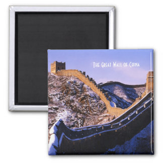 Snow on Great Wall of China Magnet