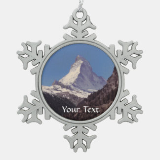 Snow on Matterhorn Mountain Hanging Ornament