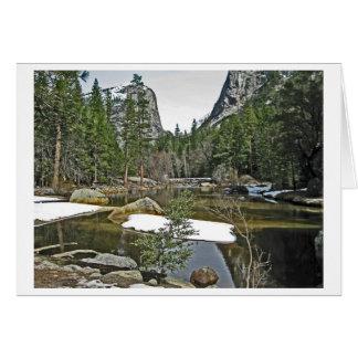 Snow on Mirror Lake - Yosemite Card