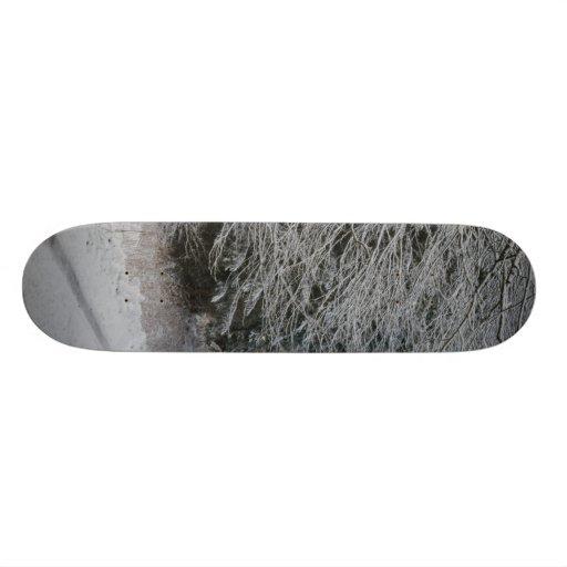 SNOW ON ROAD SKATE BOARD DECK