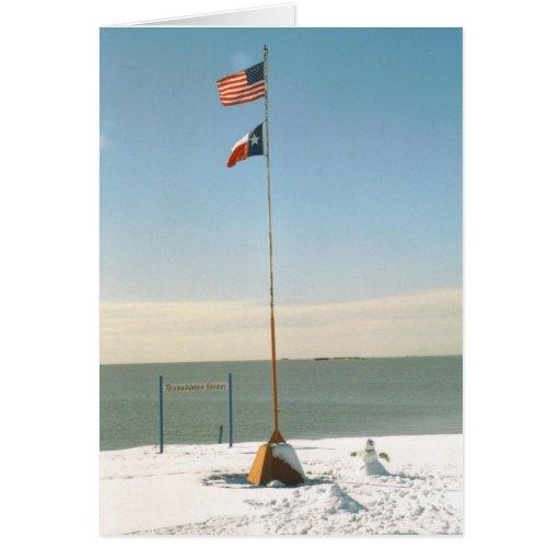 Snow on San Antonio Bay card