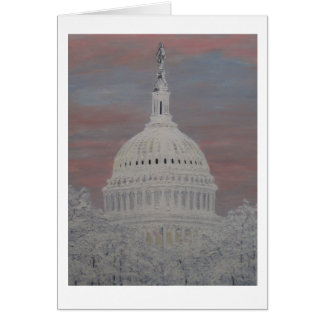 Snow on the Capitol Dome Blank Card