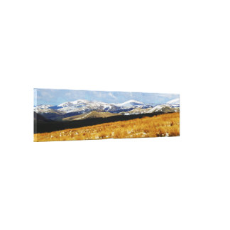Snow On The Cheviot Hills, Northumberland Stretched Canvas Print