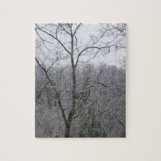 Snow On The Mountain Trees Jigsaw Puzzle