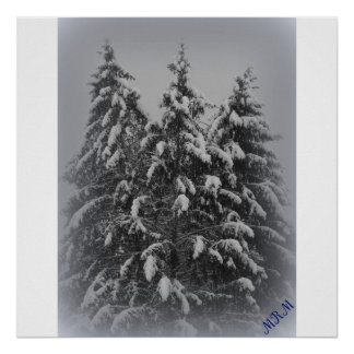 Snow on the Pines- poster