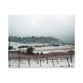 Snow on The Vine Gallery Wrap Canvas