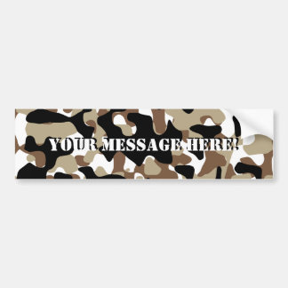 Snow open terrain  Camouflage Bumper Sticker